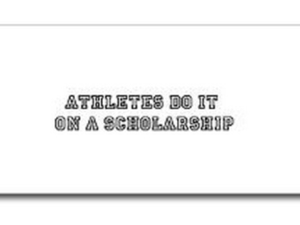 Athletes. Doing it. Like scholars.