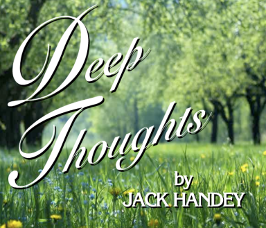 "Just typing the words ""Deep Thoughts"" makes me start laughing."