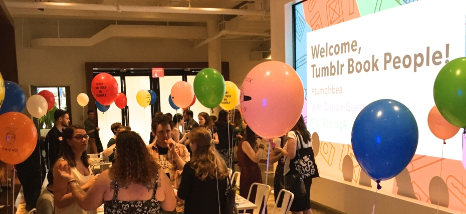 In New York last week, Tumblr held a brunch in honor of 10 authors. They threw us the most wonderful party ever and invited a bunch of really fun booknerds, and it was amazing.