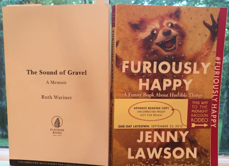 Part of my job is to read ahead to know what books are coming out next season, so both of these were in my bookbag. Jenny's book comes out soon (September) and made me laugh at inappropriate volume for a golf course. Ruth's book is one of those I-can't-believe-this-is-real true stories that made me miss a few putts.